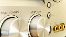 Hifi receiver. My silver hi fi receiver Royalty Free Stock Images