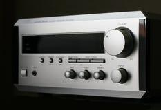 Hifi Receiver. Silver receiver Royalty Free Stock Image