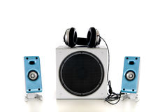 Hifi  Sound system 2.1 Stock Image