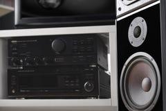 Hifi- system med högtalare Royaltyfria Bilder