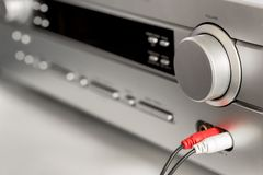 Hifi systemu amplifikator Obraz Stock