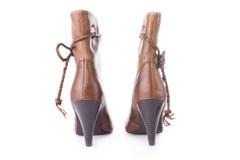Hig heels half boot Stock Photo