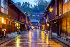 Higashi Chaya District in Kanazawa Japan stock foto's