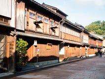 Higashi Chaya old geisha district in Kanazawa Royalty Free Stock Image