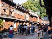 Higashi Chaya old geisha district in Kanazawa Stock Photo