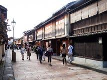 Higashi Chaya old geisha district in Kanazawa Stock Image