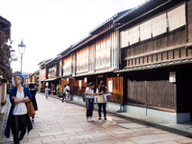 Higashi Chaya old geisha district in Kanazawa Royalty Free Stock Photo