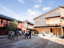 Higashi Chaya old geisha district in Kanazawa Royalty Free Stock Photos