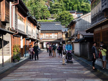 Higashi Chaya old geisha district in Kanazawa Stock Photos