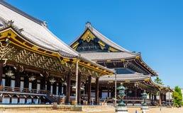 Higashi Hongan-ji, буддийский висок в Киото стоковое фото
