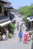 Historical street Kyoto Japan  Royalty Free Stock Photos