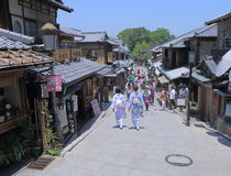 Historical street Kyoto Japan  Royalty Free Stock Image