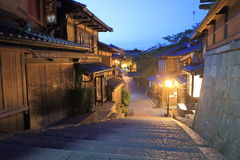 Beautiful old historical street Kyoto  Stock Photography