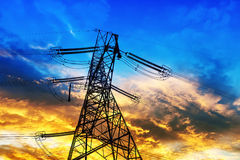 Hige voltage tower Stock Photo