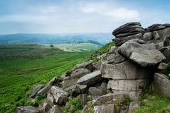Higger突岩,高峰区,英国 库存照片