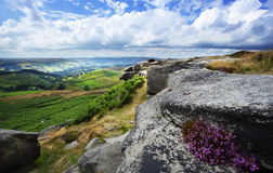 Higger Tor. View from Higger Tor Peak District stock photography