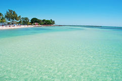 Higgs beach pier, palms, relax, sea, Key West, Keys, Cayo Hueso, Monroe County, island, Florida Stock Photography