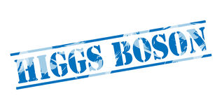 Higgs boson blue stamp. Isolated on white background Stock Images