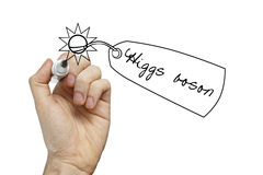 Higgs boson drawing on a whiteboard Royalty Free Stock Photo
