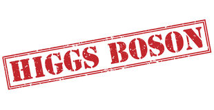 Higgs boson red stamp Stock Image