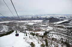 So high!. A view of Park City, Utah Stock Photography