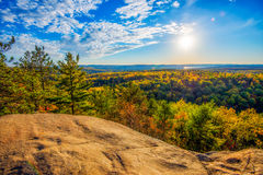 High Above the Autumn Trees Royalty Free Stock Photo