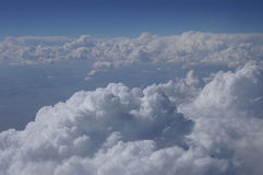 High above the clouds. Top of the clouds from an areoplane royalty free stock images