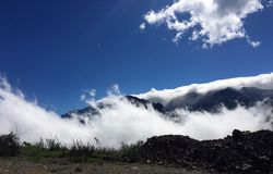 HIGH ABOVE THE CLOUDS II, ANDES MOUTAINS stock image