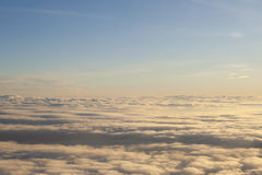 High above the clouds peaceful scene. Stock Photography