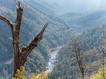 High above the Feather River Canyon. The Feather River Canyon in Northern California Stock Photos