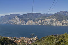 High above Malcesine Royalty Free Stock Image