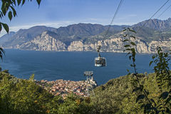 High above Malcesine stock photography