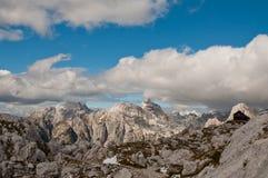 High alpine cottage. In Julian Alps, Slovenia royalty free stock photos