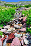 High alpine creek on the Grinnell Glacier trail in Glacier national park, montana Stock Images