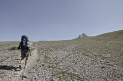 High Alpine Hiking stock images