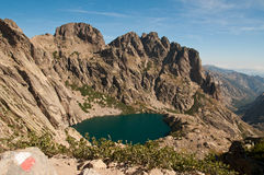 High alpine lake Stock Images