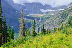 High alpine landscape on the Grinnell Glacier trail in Glacier national park, montana Stock Images