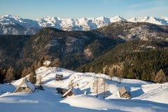 High alpine meadow Krstenica Royalty Free Stock Photos
