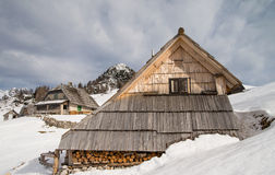 High alpine meadow Krstenica Stock Photos