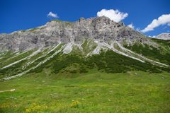 High Alpine peak in summer Royalty Free Stock Image