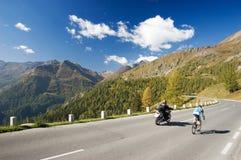 High Alpine road. Grosslockner - High Alpine road in Austrian Alps Stock Photo