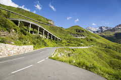 High alpine road Stock Photography
