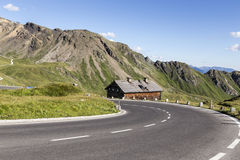High alpine road Royalty Free Stock Photos