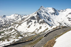 High Alpine Road Stock Images