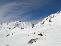 High alpine ski area Stock Photography