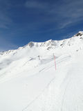High alpine ski area in French Alps Stock Photos