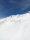 High alpine ski area in French Alps Stock Photos