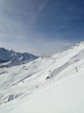 High alpine ski area in French Alps Stock Photography