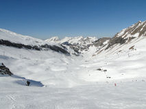 High alpine ski area in the French alps Stock Photos