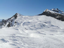 High alpine ski area in the French alps Stock Photography
